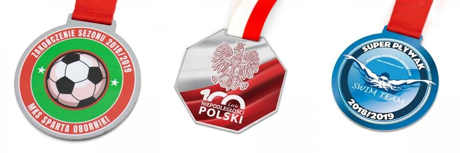 metalowe medale z kolorowym nadrukiem