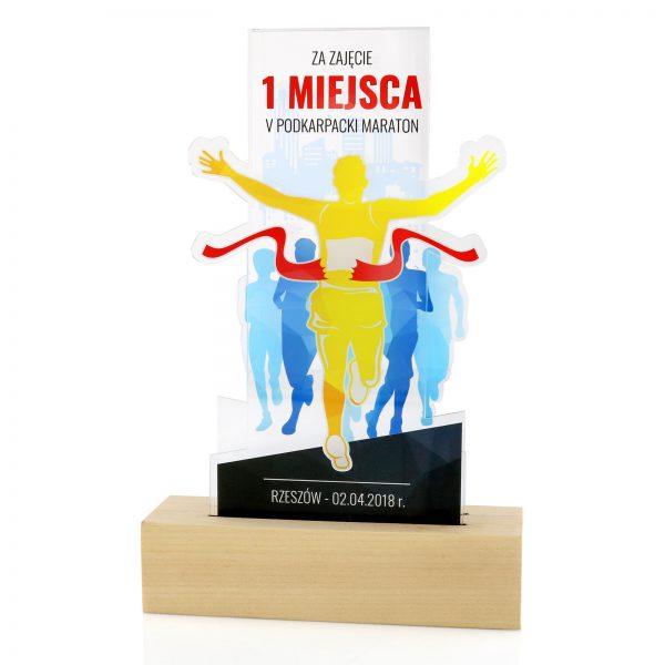 Statuetka na zamówienie dla biegacza na maraton