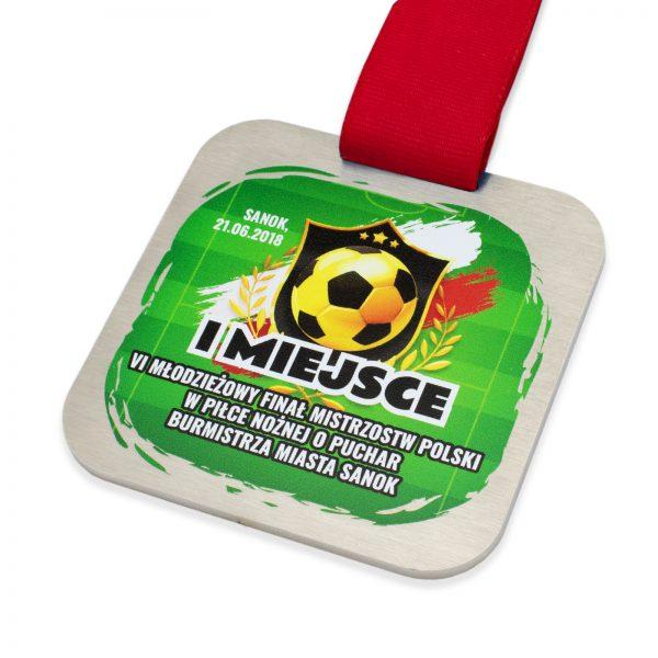 Okolicznościowy metalowy medal na piłkarskie mistrzostwa