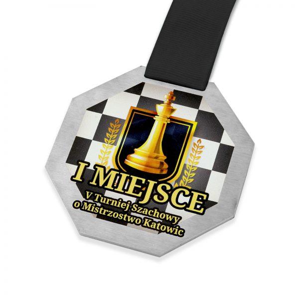 Metalowy medal na zamówienie na turniej w szachy