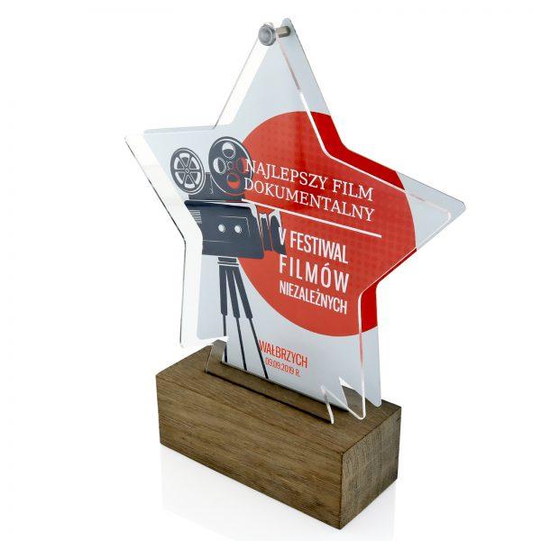 Filmowa statuetka gwiazda z dowolnym nadrukiem