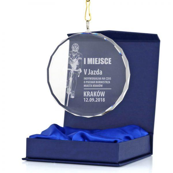 Szklany medal z grawerem – indywidualna jazda na czas