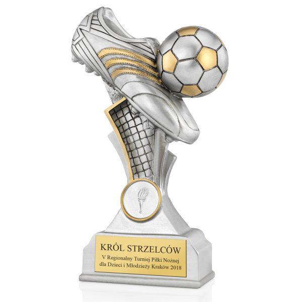 Statuetka odlewana z grawerem na turniej piłki nożnej