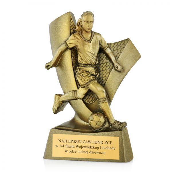 Statuetka z indywidualnym grawerem dla najlepszej piłkarki w turnieju