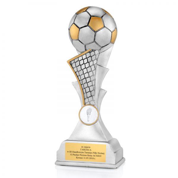 Statuetka odlewana z dowolnym grawerem na turniej piłki nożnej