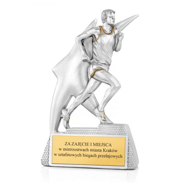 Statuetka odlewana na mistrzostwa w biegach przełajowych
