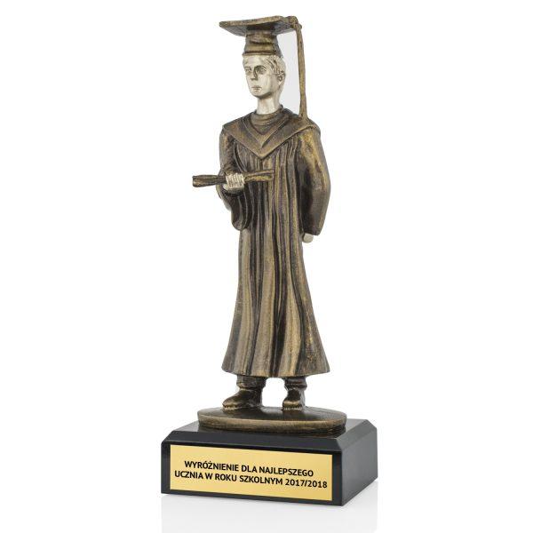 Statuetka odlewana na wyróżnienie dla najlepszego ucznia roku