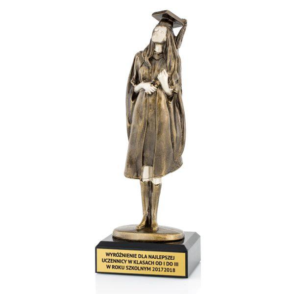 Statuetka odlewana na wyróżnienie dla najlepszej uczennicy