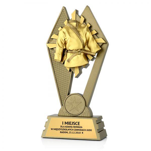 Statuetka odlewana dla najlepszego zawodnika w zawodach judo