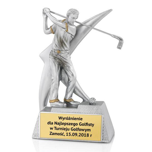 Odlewana statuetka z grawerem dla golfisty na turniej golfowy