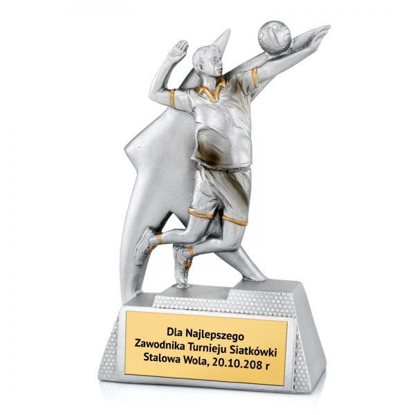 Statuetka odlewana dla najlepszego siatkarza na zawody siatkarskie