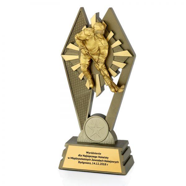 Statuetka odlewana dla najlepszego hokeisty w między szkolnych zawodach hokejowych
