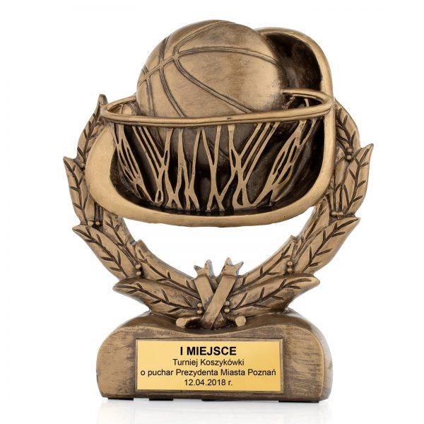 Statuetka odlewana z dowolnym grawerem na turniej koszykówki
