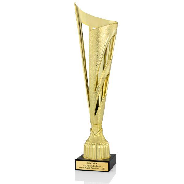Puchar sportowy na postumencie z marmuru za udział w konkursie