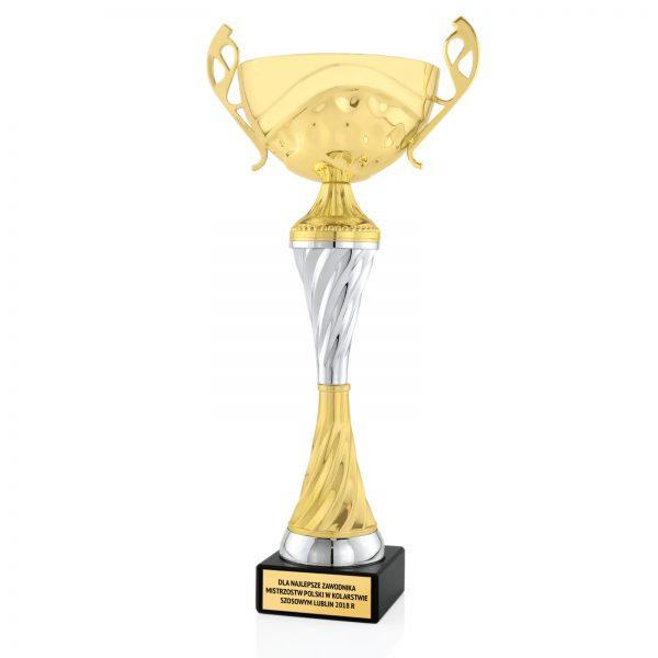 Puchar na postumencie dla zawodnika w kolarstwie szosowym