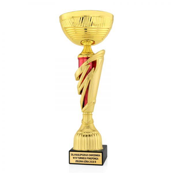Puchar na postumencie z marmuru dla zawodnika w turnieju pingponga