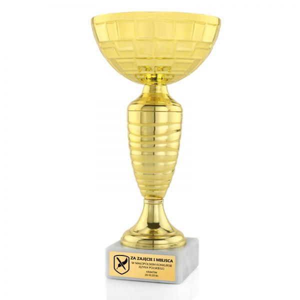 Puchar okolicznościowy na postumencie na konkurs polonistyczny