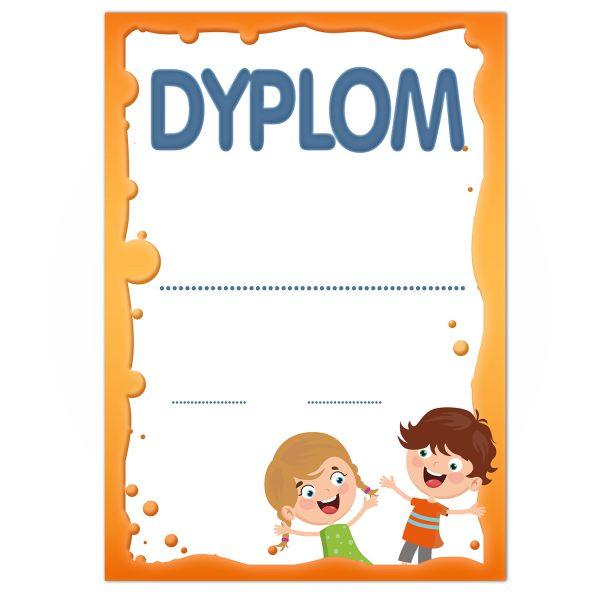 Okolicznościowy dyplom A4 z nadrukiem dla dzieci (komplet 20 sztuk)