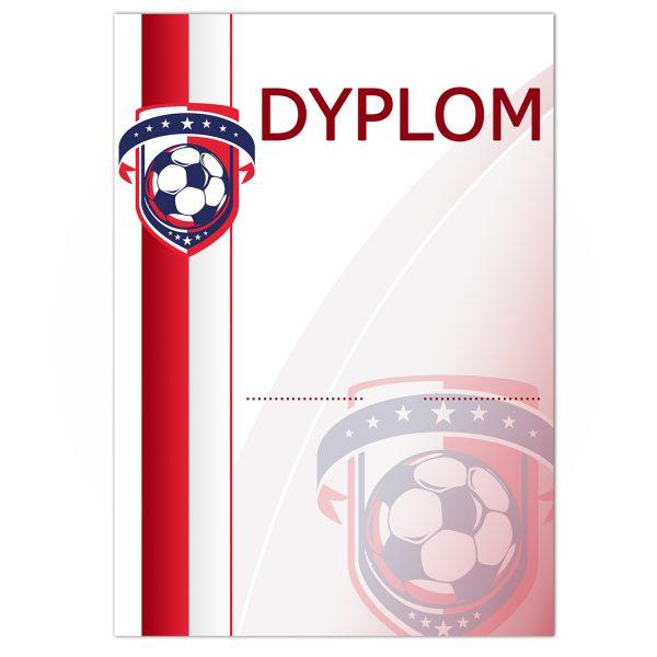 Papierowy dyplom A4 z kolorowym nadrukiem na zawody piłki nożnej (zestaw 20 sztuk)