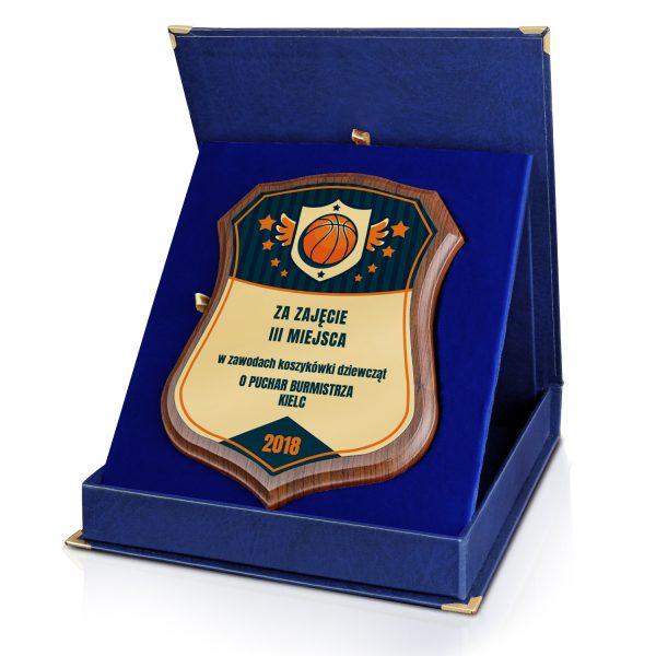 Certyfikat z dowolnym nadrukiem w etui na turniej koszykówki