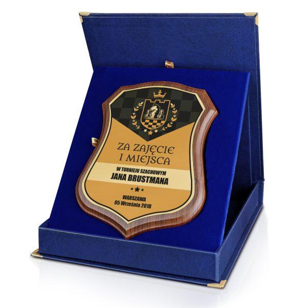 Certyfikat z nadrukiem w eleganckim etui na turniej szachowy