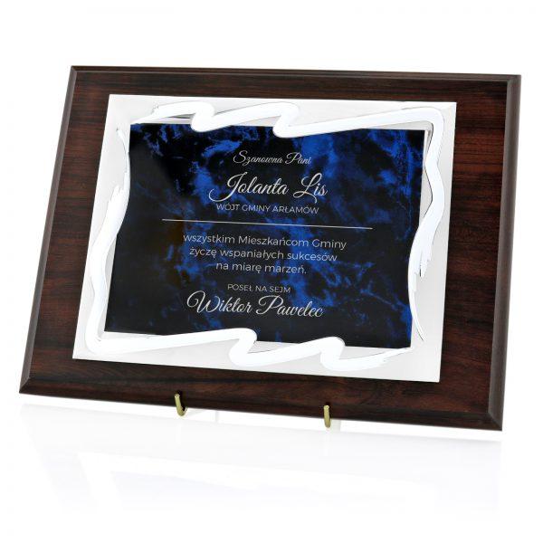Drewniany certyfikat okolicznościowy na jubileusz miasta