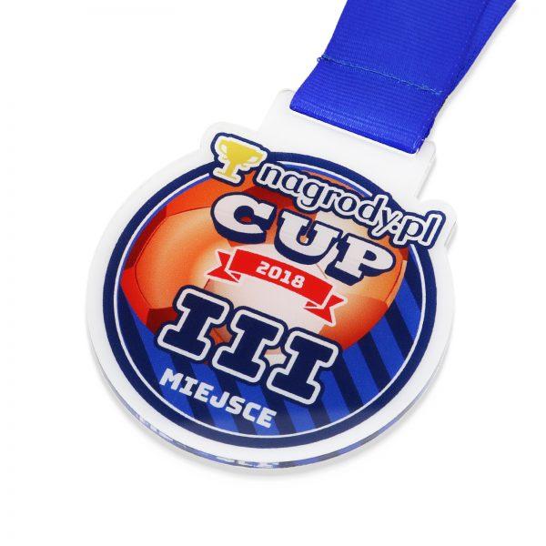 Medal z kolorowym nadrukiem na zawody piłkarskie