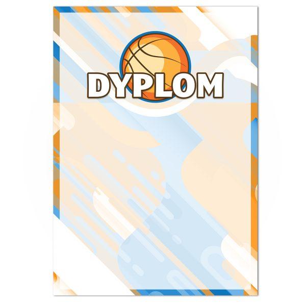 Papierowy dyplom A4 na turniej koszykówki
