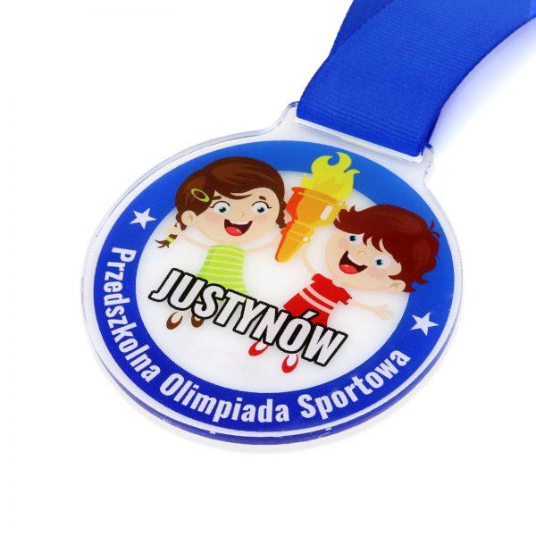 Okolicznościowy medal z pleksi na olimpiadę sportową