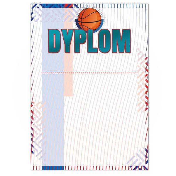 Dyplom z kolorowym nadrukiem na zawody koszykówki