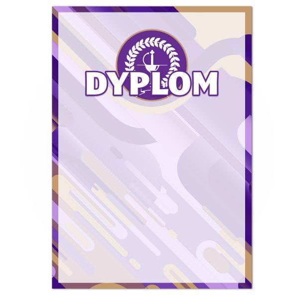 Dyplom A4 z kolorowym nadrukiem na turniej szermierczy