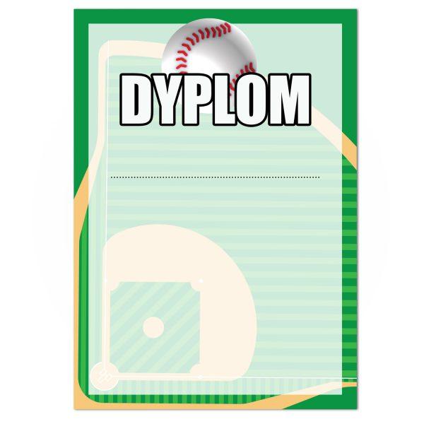 Dyplom sportowy z nadrukiem na turniej baseballowy