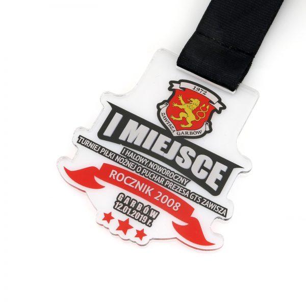 Medal z kolorowym nadrukiem na halowy turniej piłki nożnej