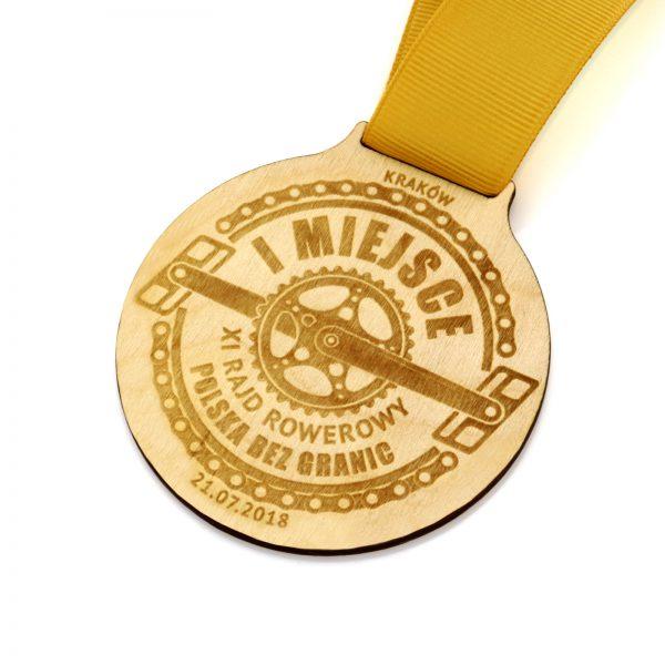 Medal z grawerem na zawody rowerowe