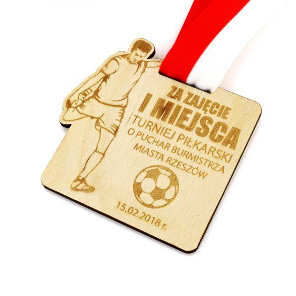 Medal z grawerem na turniej piłki nożnej