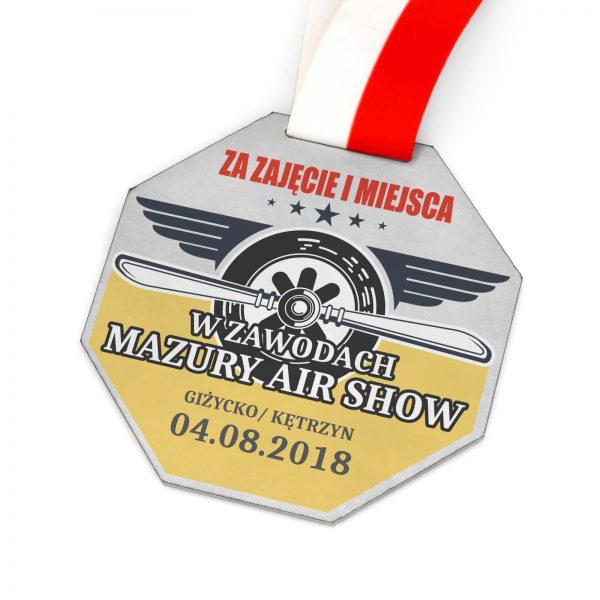 Medal z kolorowym nadrukiem na zawody lotnicze Air Show