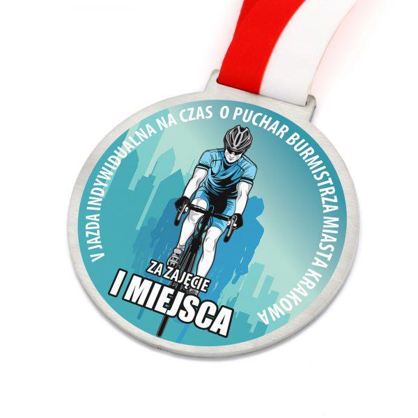 Medal z nadrukiem na zawody rowerowe