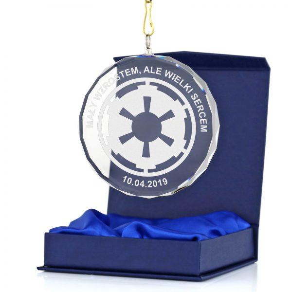 Szklany Medal z dowolnym grawerem dedykacji