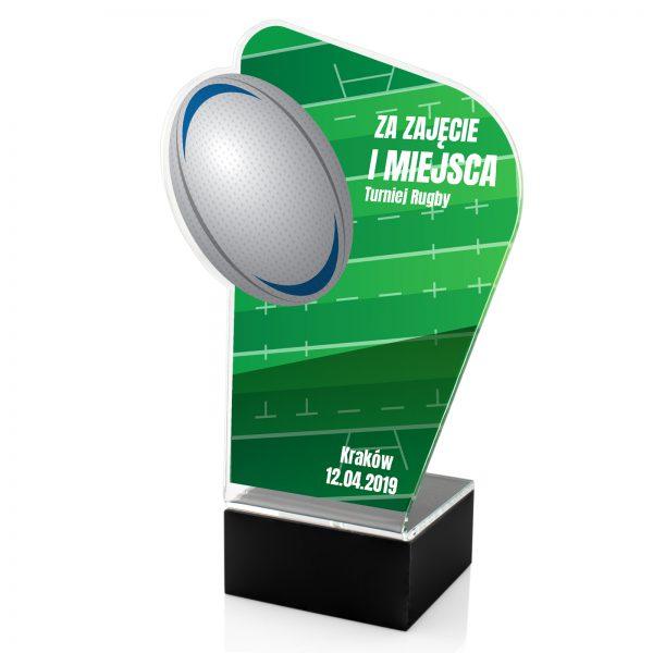 Statuetka z nadrukiem na postumencie na turniej rugby