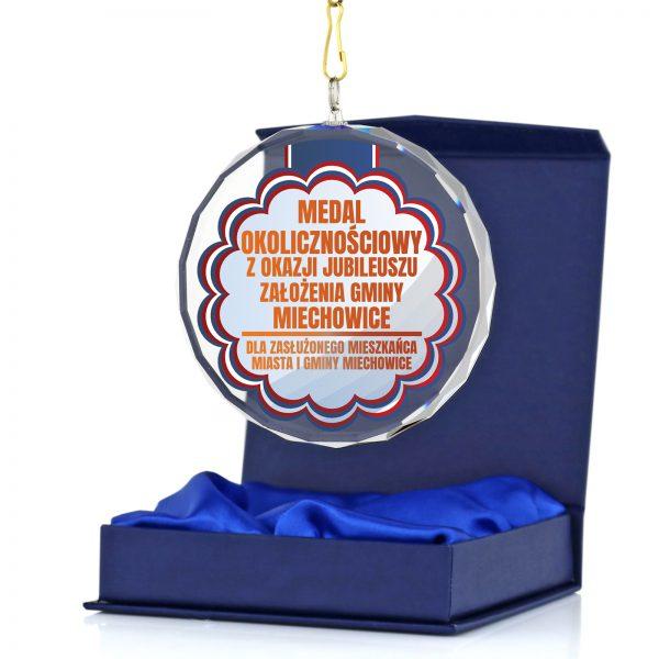 Szklany medal okolicznościowy dla zasłużonego mieszkańca