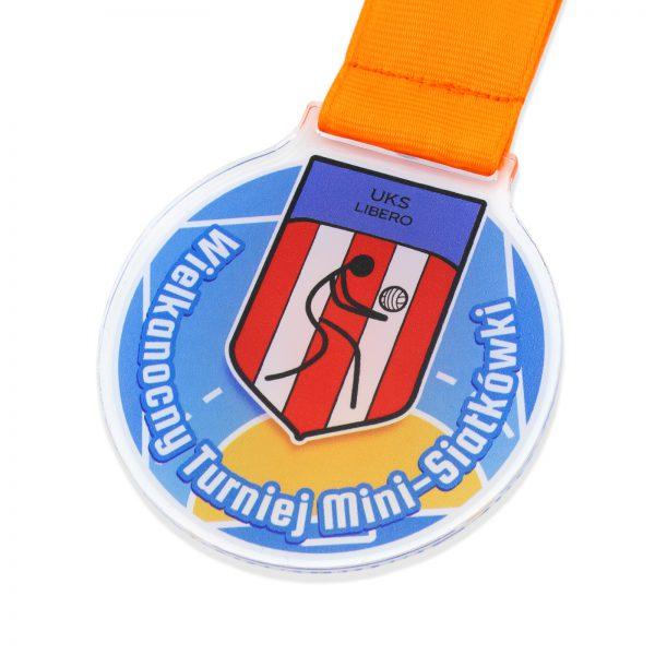 Medal z kolorowym nadrukiem na turniej w piłce siatkowej