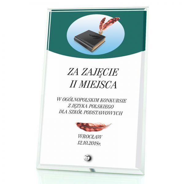 Okolicznościowa statuetka na konkurs języka polskiego