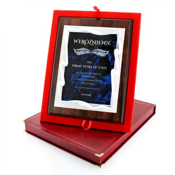 Okolicznościowy certyfikat w etui na podziękowanie dla firmy