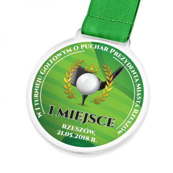 Medal z nadrukiem za udział w turnieju golfowym