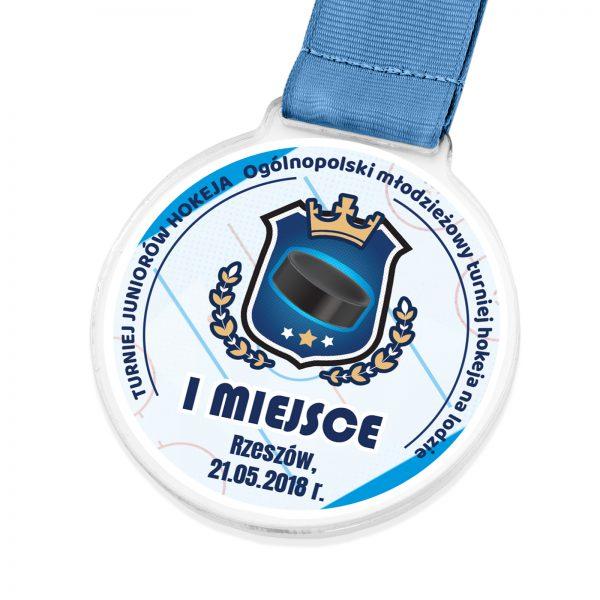 Medal z pleksi na turniej hokejowy na lodzie