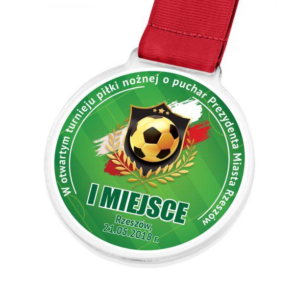 Medal z kolorowym nadrukiem na turniej piłki nożnej