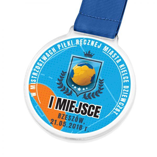Medal z przeźroczystej pleksi na mistrzostwa w piłce ręcznej