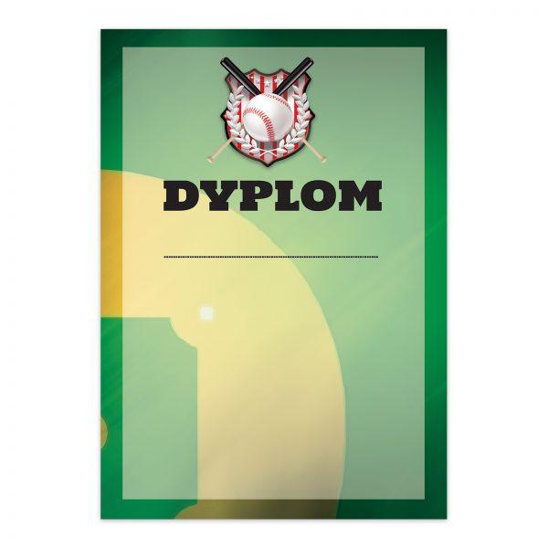 Dyplom A4 za udział w międzywojewódzkich mistrzostwach w baseballu