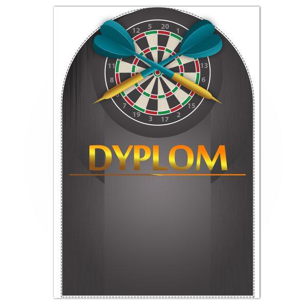 Dyplom z kolorowym nadrukiem na turniej darta