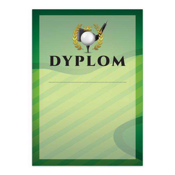 Sportowy dyplom A4 z nadrukiem na turniej golfowy